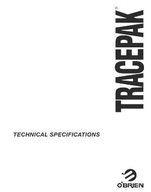 Especificaciones técnicas Tracepack